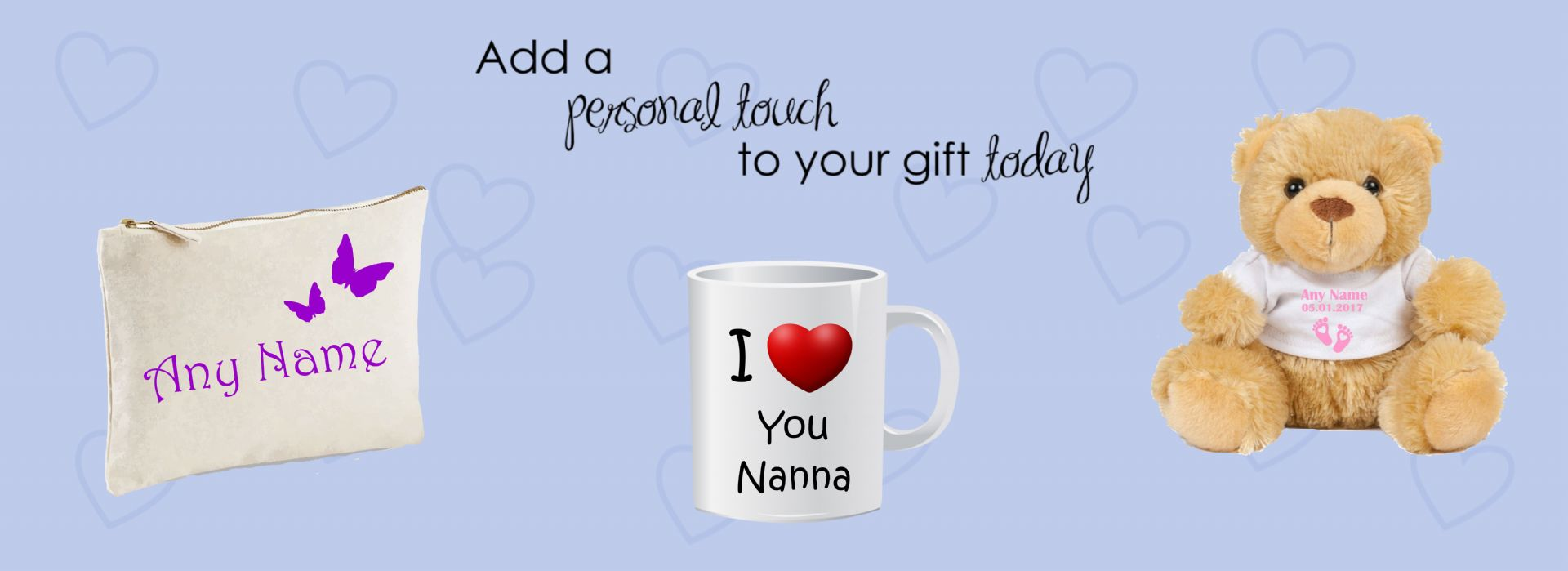 add a personal touch to your gift today